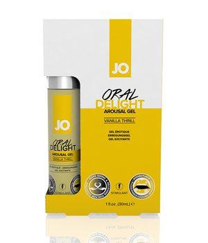 JO40480 Стимулирующий гель для оральных ласк Oral Delight - ванильный